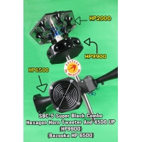 387-SBC-5 Super Black Combo Hexagon Horn Tweeter And 45DG UP  (HP9900)