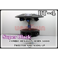 045-SUPER BLACK COMBO HEXAGON HORN TWEETER AND 45DG UP