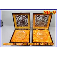 192 WOODEN SQUARE PREMIUM NEST BOX